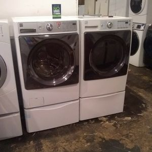 Used Excellent Condition Kenmore Elite Washer And Electric Dryer Set for Sale in Elkridge, MD