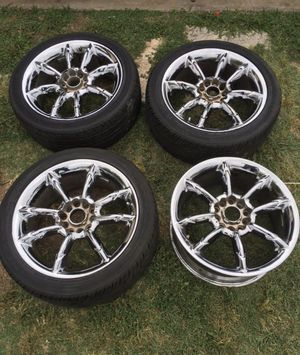 17 Universal chrome rims for sale for Sale in Round Rock, TX