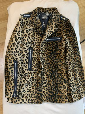 Serious clothing leopard pink jacket hot topic L for Sale in Los Angeles, CA
