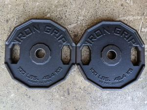 IRON GRIP OLYMPIC 100LB PLATES $450 for Sale in Stockton, CA