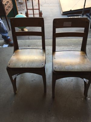 Vintage kids school chairs - selling AS IS 15 EACH for Sale in Downey, CA