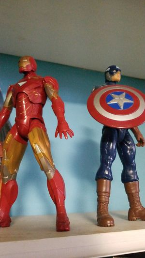 Iron man and Captain America figures for Sale in Florissant, MO