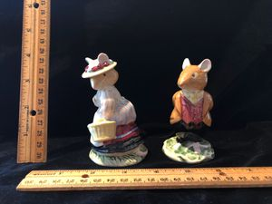 Royal Doulton bramble hedge lord woodmouse and lady woodhouse for Sale in South Hill, WA