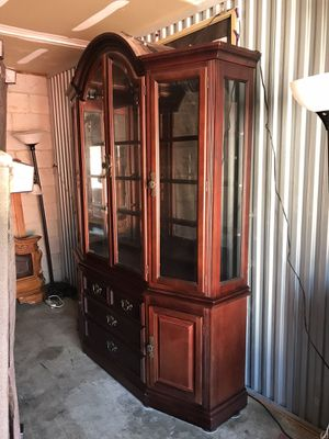 2 piece USED CHINA Cabinet-NO Holds-NO Deliver,Serious Buyers only🙂 for Sale in Raleigh, NC