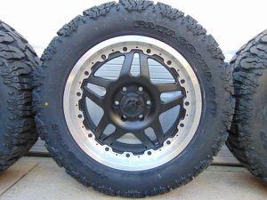 NEW *6 LUG* Satin Black 20X9 Gear Alloy Rims LT 285 55 20 Mud Tires for Sale in Aurora, CO