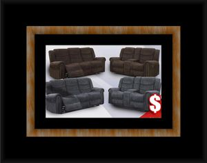 Grey or chocolate recliner set for Sale in Fairfax, VA