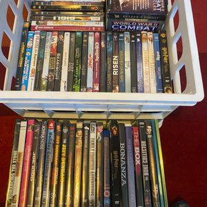 Over 50 dvds and some blu rays Comes with all pictured All in good condition for Sale in Denver, CO