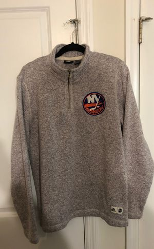 ADIDAS New York Islanders Quarter-Zip Sweater (Adult M) for Sale in Garden City, NY