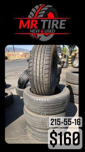 215-55-16 used tires 215/55/16 llantas usadas for Sale in Fontana, CA