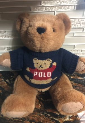 Vintage Polo Ralph Lauren teddy bear for Sale in Channelview, TX