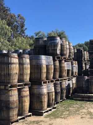 Oak Barrels (loose hooped spirit barrels) for Sale in San Diego, CA