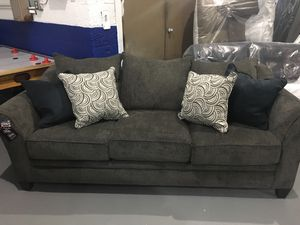 Pewter Stationary Sofa/Love set for Sale in Appleton, WI