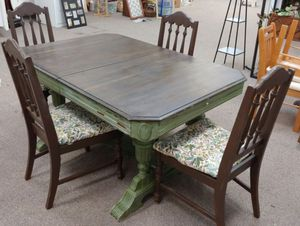 Antique Table & 4 Chairs for Sale in Burlington, NC