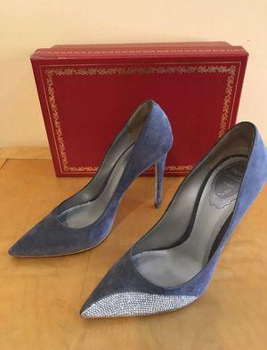 Women's Rene Caovilla Grey Crystal Pumps Heels Size 38 (Read Description) for Sale in Beverly Hills, CA