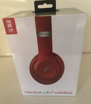 Beats Studio 3 Wireless Headphones Red Edition for Sale in Fresno, CA