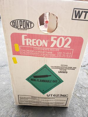 Du Pont freon r502 30lb refrigerant tank brand new in box for Sale in Grayslake, IL