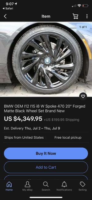 """BMW OEM I12 I15 i8 W Spoke 470 20"""" Forged Matte Black Wheel Set for Sale in Norwalk, CT"""