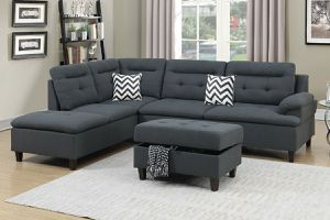 Charcoal Grey sofa sectional couch for Sale in Lynwood, CA
