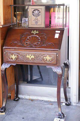 """#95448 Carved Wooden Ball and Claw Secretary Desk 4' Tall x 26"""" Wide x 16"""" Deep for Sale in Oakland, CA"""