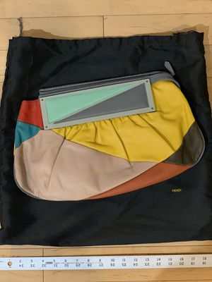 Authentic FENDI Multicolor Leather Convertible To You Clutch Bag Handbag for sale! Used but in great condition! Asking $399 shipped in the US. for Sale in Santa Clara, CA
