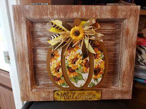 Sunflower Fall Pumpkin Sign - Wall Hanging for Sale in Phoenix, AZ