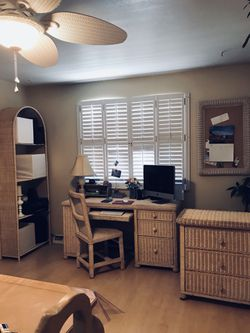 Desk, chair, shelf, bulletin board and storage cabinet for Sale in Littleton,  CO