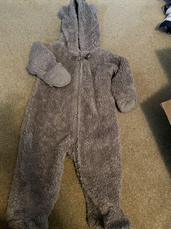 Teddy bear winter jumpsuit