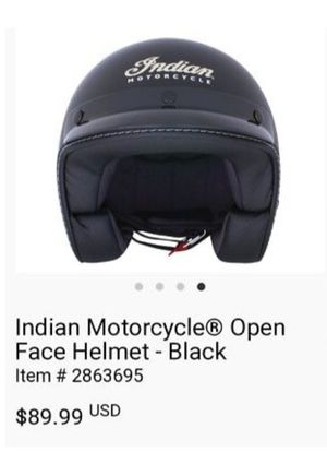 Indian Motorcycle Open Face Helmet for Sale in Houston, TX