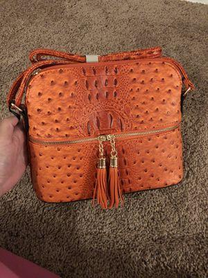 Orange ostrich bag for Sale in Berwyn Heights, MD