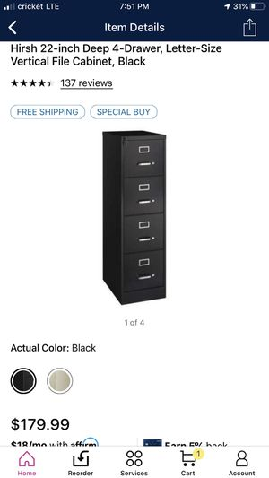 Brand new four-drawer black file cabinet for Sale in Bloomington, CA