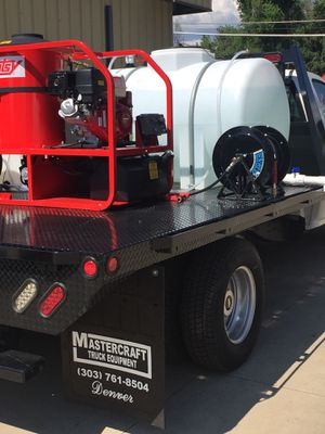 Hotsy pressure washers for flat bed trucks. for Sale in Denver, CO