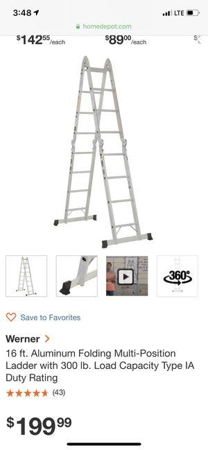 Werner ladder for Sale in Ashburn, VA