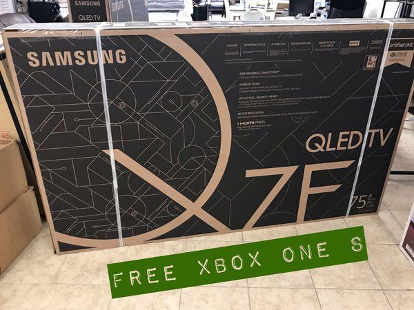 "SAMSUNG 75"" QLED 4K Q7F ➕ FREE XBOX ONE S"