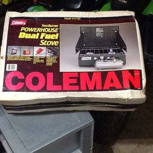 New in the box Coleman dual fuel camp stove for Sale in Dover, PA