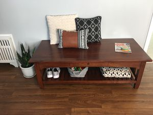 Coffee table (using as entry way bench) for Sale in Shippensburg, PA