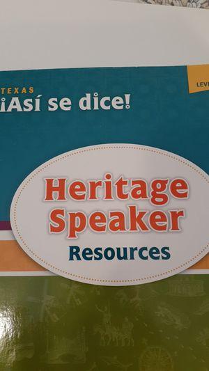 HERITAGE SPEAKER RESOURCES WORKBOOK for Sale in Grand Prairie, TX