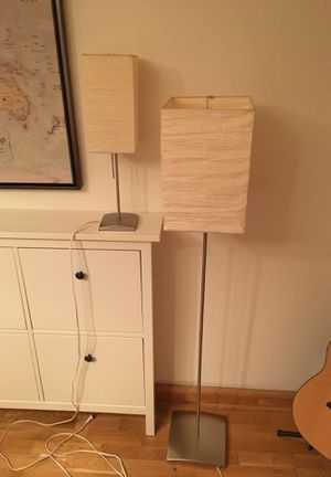 Table and Floor Lamp - Paper Shades for Sale in San Diego, CA