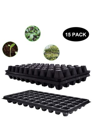 NEW!! Seed Starter Tray,15 Pack BPA-Free Seeding Starter Tray with Drain Holes 50-Cell Planting Trays for Planting Seedlings, Greenhouse, Wheatgrass, for Sale in Los Angeles, CA