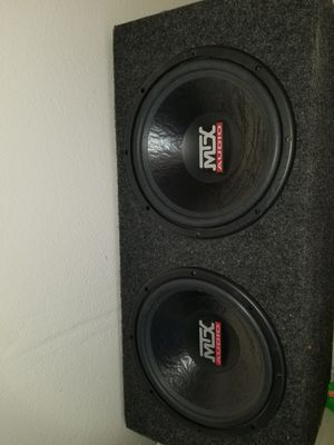 """MTX AUDIO 12"""" SUBWOOFERS IN BOX for Sale in Killeen, TX"""
