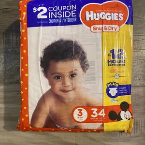 Huggies snug & dry diapers size 3 for Sale in San Bernardino, CA