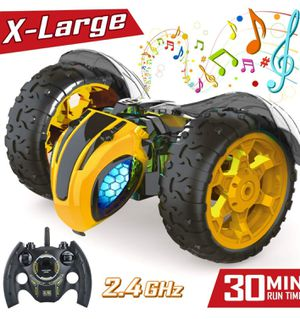 -New-RC Car for Kids Remote Control Cars for Boys 2.4Ghz 1:8 Rechargable Off Road Race Car Bumble Lightning Bee Rock Crawler Music for Sale in Syosset, NY