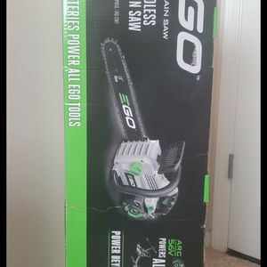 Brand new never used EGOPower+ 56-Volt Lithium Ion 18-in Cordless Electric Chainsaw (Battery Included)$$ 220 firm for Sale in Bakersfield, CA