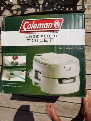 COLEMAN LG. FLUSH TOILET for Sale in Malta, IL