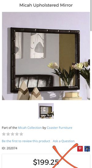 BRAND NEW! STILL IN BOX Micah Upholstered Mirror for Sale in Las Vegas, NV