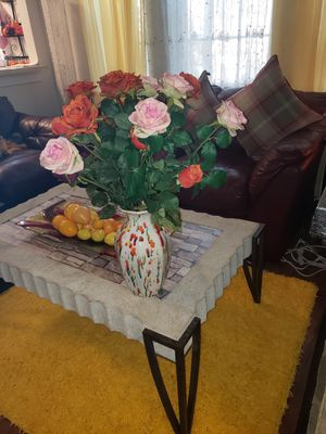 2 artificial flowers with vase for Sale in Arlington, VA