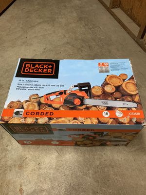 "Black and Decker 18"" corded Chainsaw for Sale in Portland, OR"