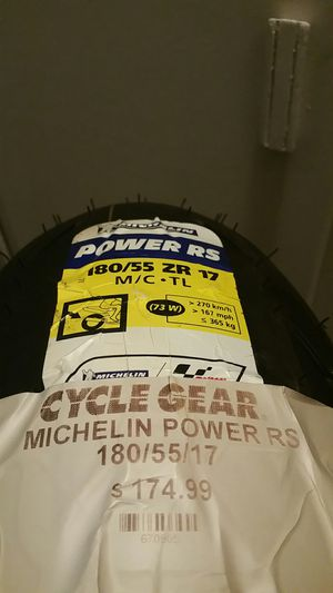 **BRAND NEW ** MICHELIN POWER RS Motorcycle Tire. 180/55 ZR 17. for Sale in Tucson, AZ