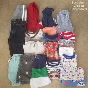 Boys size 12-18/18 baby clothes for Sale in Riverview, FL