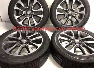 """20"""" Oem Jeep Grand Cherokee 9168 Wheels And Tires Great Shape 265-50-r20 Bridgestone package deal 1199.00 Financing available no credit needed B for Sale in Macomb, MI"""