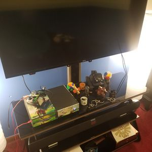 Black Glass Shelf Mountable TV Stand for Sale in Masontown, PA